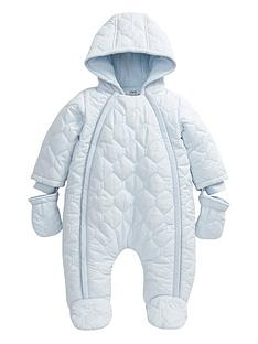 mamas-papas-mamas-amp-papas-boys-blue-quilted-pramsuit
