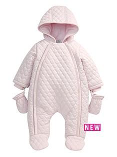 mamas-papas-girls-pink-quilted-pramsuit