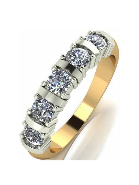 moissanite-9-carat-yellow-gold-1-carat-moissanite-5-stone-eternity-ring