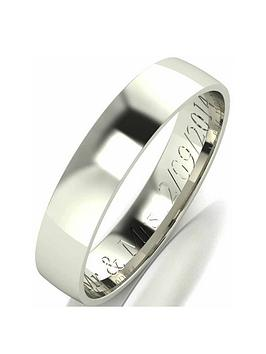 love-gold-9-carat-white-gold-court-wedding-band-4mm-with-optional-personalised-engraving
