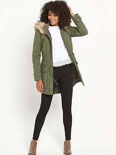 south-south-petite-pu-trim-faux-fur-parka