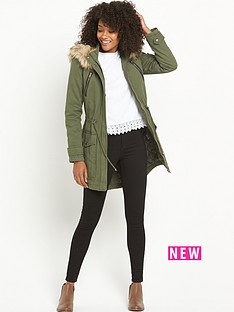 south-tall-pu-trim-faux-fur-parka