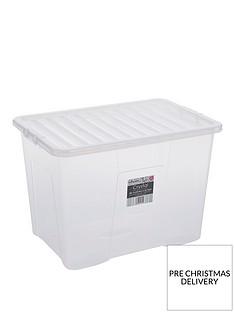 wham-80-litre-clear-plastic-storage-boxes-set-of-2
