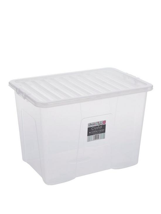 sc 1 st  Very & Wham 80 Litre Clear Plastic Storage Boxes (Set of 2) | very.co.uk
