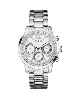 guess-sunrise-multi-function-dial-silver-tone-ladies-watch