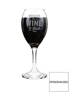 personalised-wine-oclock-wine-glass
