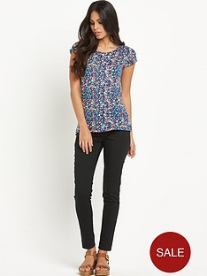 south-floral-split-back-cuff-t-shirtnbsp
