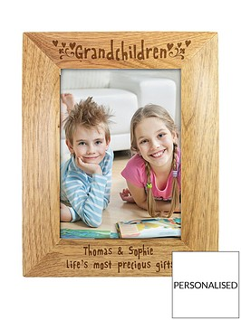 personalised-grandchildren-wooden-photo-frame