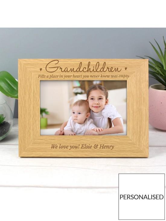 Personalised Grandchildren Wooden Photo Frame | very.co.uk