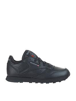 reebok-classic-leather-junior-trainers-black