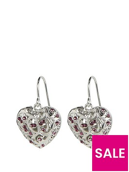 fiorelli-scrolled-cage-purple-drop-earrings