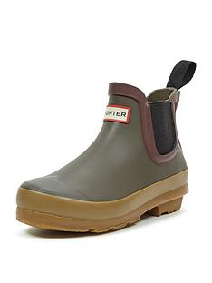 hunter-original-kids-gum-sole-chelsea-boots
