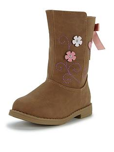 ladybird-younger-girls-bella-floral-applique-boots