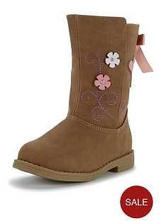 ladybird-younger-girls-bella-floral-applique-boots