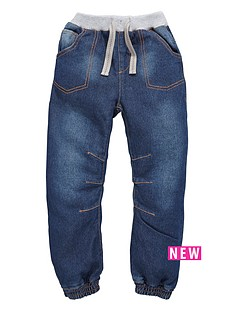 ladybird-boys-dark-wash-cuffed-jeans-with-knitted-waist
