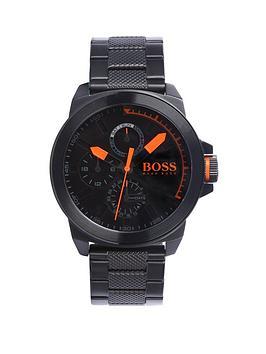 hugo-classic-round-multi-eye-black-dial-orange-markers-black-bracelet-mens-watch