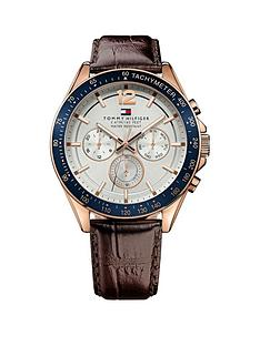 tommy-hilfiger-multi-eye-dial-blue-bezel-rose-gold-tone-brown-leather-strap-mens-watch