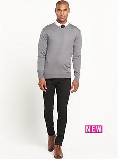 goodsouls-merino-wool-v-neck-jumper-grey