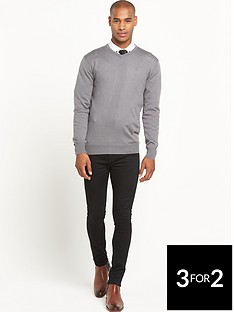 goodsouls-merino-wool-v-neck-jumper-grey