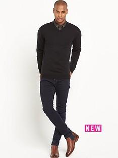 goodsouls-merino-wool-v-neckampnbspjumper-black