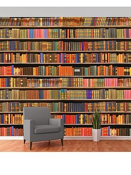 1wall-bookshelf-wall-mural