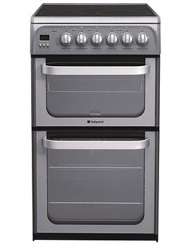 hotpoint-hue52gs-50cm-double-oven-electric-cooker-graphite