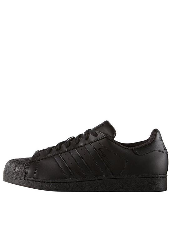 adidas Originals Superstar Foundation Trainers - Black   very.co.uk 5a30a40f16f0