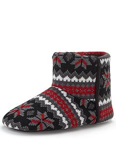 dunlop-knitted-mensnbspboot-slippers