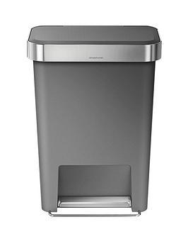 simplehuman-45-litre-rectangular-step-bin-grey