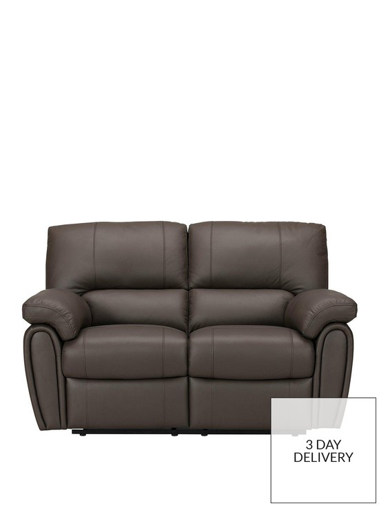 Violino Leighton Leather Faux Leather 2 Seater Power Recliner Sofa