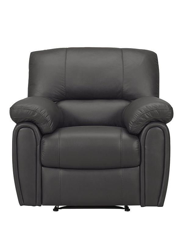 Leighton LeatherFaux Leather Power Recliner Armchair