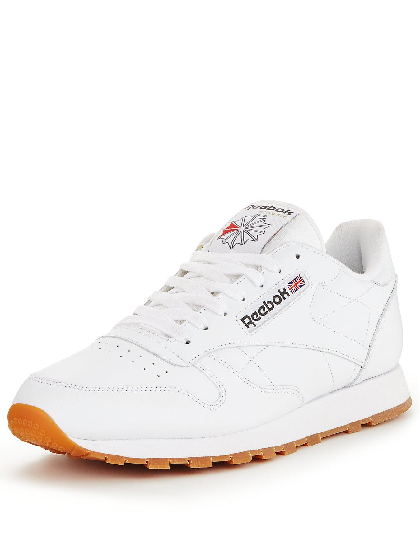 mens white reebok trainers