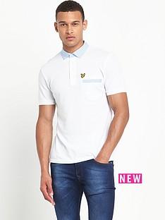 lyle-scott-fabric-mixed-collar-polo-shirt