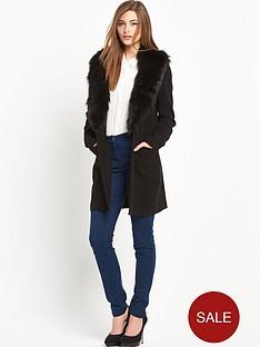south-south-faux-fur-collar-coat