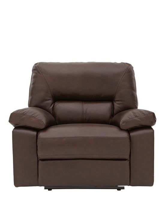 Newberg Premium Leather Power Recliner Armchair Very Co Uk
