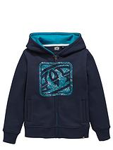 Animal Boys Logo Hooded Zip Through Top