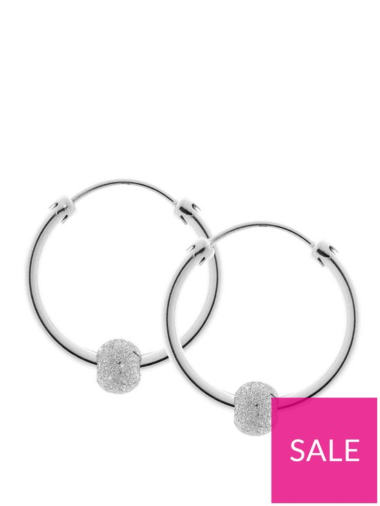 54f061947 Love GOLD 9 Carat Gold Glitterball Capped Hoop 18 mm Earrings | very ...