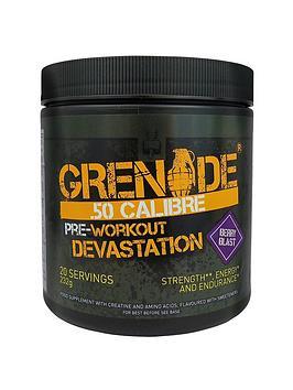Grenade 50. Calibre Pre Workout Energy Boost Powder 232G - Berry Blast