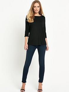 ted-baker-curved-hem-jersey-tee