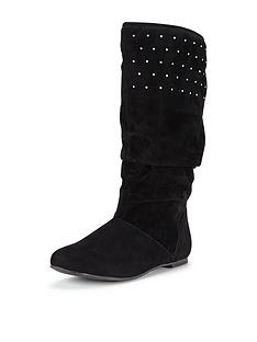 freespirit-older-girls-sharninbspslouchy-imitation-suede-tall-boot