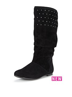 freespirit-older-girls-sharninbspslouchy-imitation-suede-tall-boot