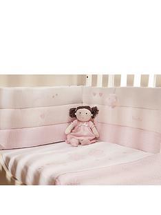 silver-cross-luxury-cot-bumper-vintage-pink