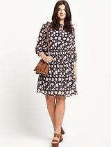 So Fabulous! Boho Shirred Waist Tunic Dress