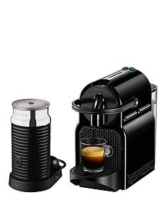 Nespresso Inissia and Aeroccino 3 Coffee Machine by Magimix - Black