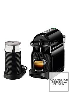 Nespresso Inissia and Aeroccino 3 Coffee Machine by Magimix - Black