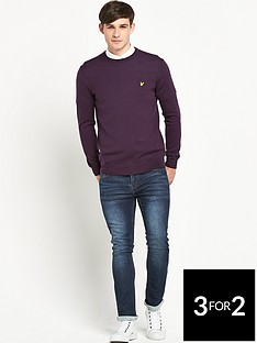 lyle-scott-lyle-amp-scott-tartan-elbow-patch-jumper