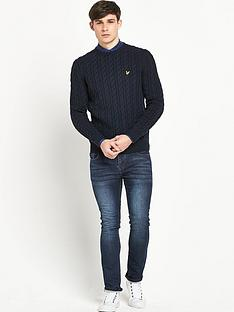 lyle-scott-cable-stitch-jumper