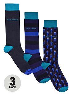 ted-baker-3pk-umbrellaplain-sock