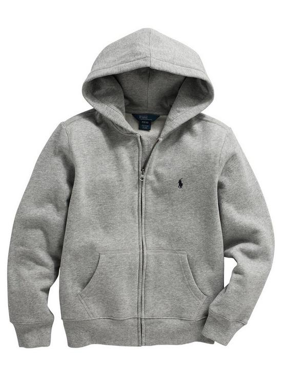 d57c19cf4 Ralph Lauren Boys Classic Zip Through Hoodie - Grey Marl