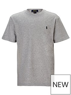 986e47866e Ralph Lauren Boys Classic Pony Logo T-Shirt - Grey Marl